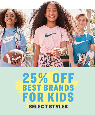 25% off best brands for kids - select styles