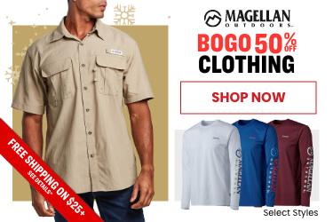 Magellan Outdoors BOGO 50% off clothing