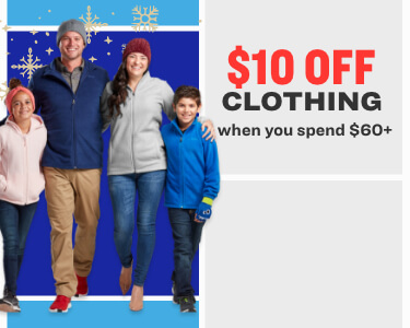 10 off clothing when you spend 60+