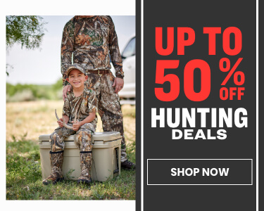 up to 50% off hunting deals
