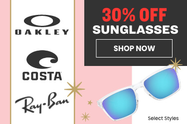 30% off sunglasses - select styles