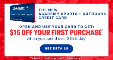 academy sports and outdoors credit card - 15% off you  first purchase