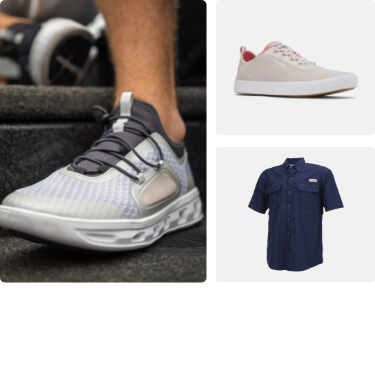 shop fishing shoes and clothing